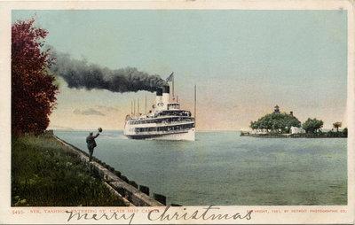 Str. Tashmoo entering St. Clair Ship Canal