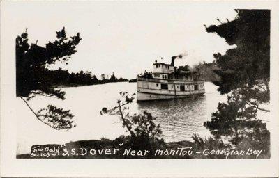 """S. S. DOVER"" near Manitou - Georgian Bay"