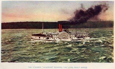 The steamer ALGERIAN Running Long Sault Rapids