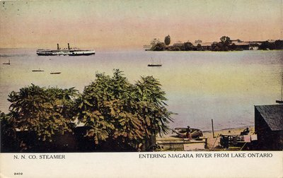 N. N. Co.. Steamer. entering Niagara River From Lake Ontario