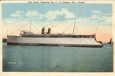 """Car Ferry """"Ontario No. 1"""" at Cobourg, Ont., Canada"""