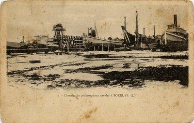Chantier de constructions navales á SOREL (P.Q.)