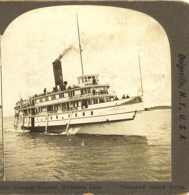 Steamer Toronto, Richelieu Line