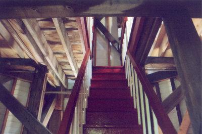 Interior of Port Burwell lighthouse
