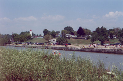 Port Burwell harbour and lighthouse