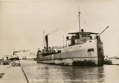 Steamer in Lock, Welland Ship Canal