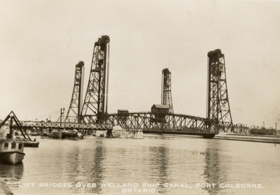 Lift Bridges over Welland Ship Canal, Port Colborne, Ontario