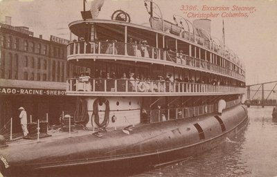 "3396. Excursion Steamer, ""Christopher Columbus"""