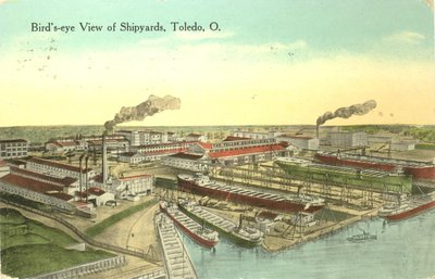 Bird's-eye View of Shipyards, Toledo, O.