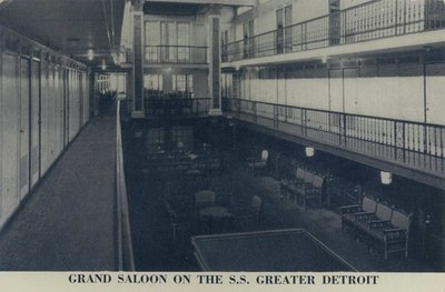 Grand Saloon on the S. S. GREATER DETROIT