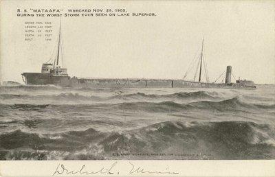 "S.S. ""Mataafa"" Wrecked Nov 28, 1905"