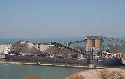 The ALGOSTEEL loading salt in Goderich