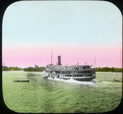 A Richelieu Navigation Co. steamer leaving Alex Bay for Montreal