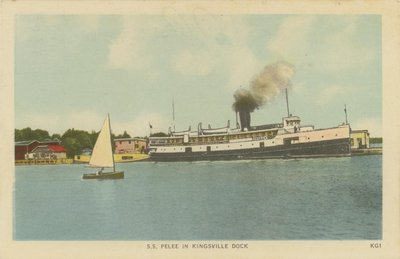 "SS ""Pelee"" in Kingsville dock"