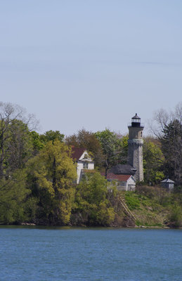 Fort Niagara lighthouse from across the river