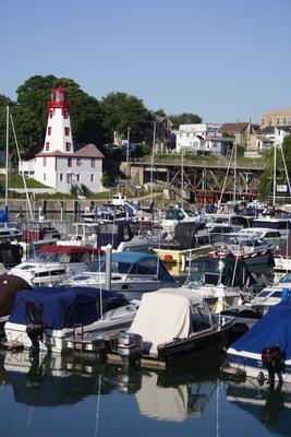Lighthouse and yacht club, Kincardine, ON