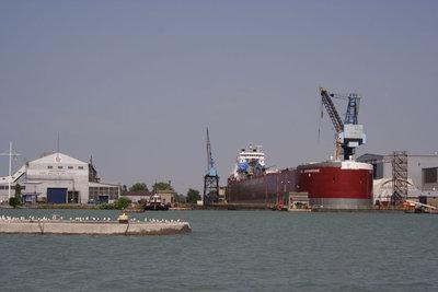 CSL ASSINIBOINE in the Port Weller Dry Docks