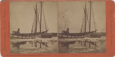 Tug C. P. Morey, with Schooner Ellen Williams in the Ice