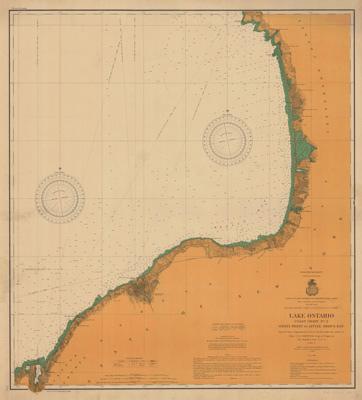 Lake Ontario Coast Chart No. 2. Stony Point to Little Sodus Bay. 1902