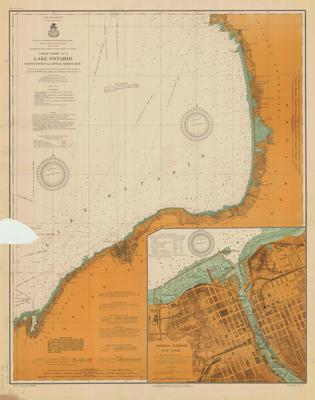 Lake Ontario Coast Chart No. 2. Stony Point to Little Sodus Bay. 1912