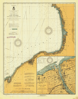 Lake Ontario Coast Chart No. 2. Stony Point to Little Sodus Bay. 1917