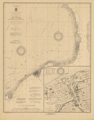 Lake Ontario Coast Chart No. 2. Stony Point to Little Sodus Bay. 1922