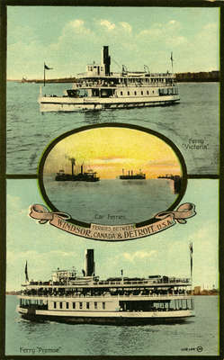 Ferries between Windsor, Canada & Detroit, U.S.A