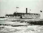 Steamer &quot;Brockville&quot; in Lachine Rapids, St. Lawrence River, near Montreal