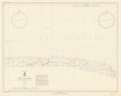 Lake Ontario Coast Chart No. 24, 1940