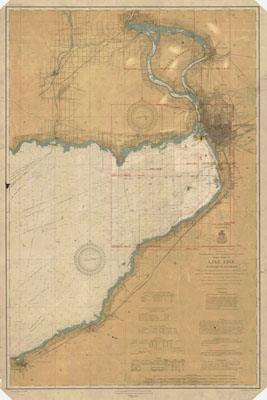 Lake Erie Coast Chart No. 1. Buffalo to Dunkirk, 1908