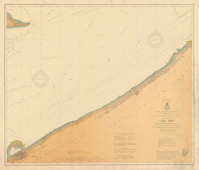 Lake Erie Coast Chart No. 2. Dunkirk to Erie and Long Point, 1906
