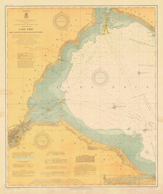 Lake Erie Coast Chart No. 7. Port Clinton to Toledo and Detroit River. 1910