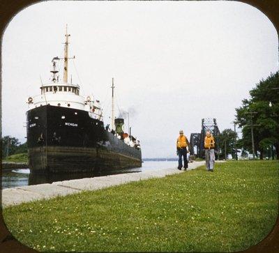 MICHIGAN approaching Sault locks