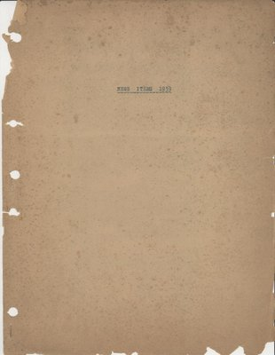 Brookes Scrapbooks, 1939