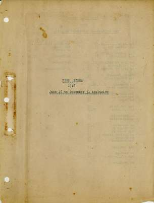 Brookes Scrapbooks, June 16 to December 31, 1946