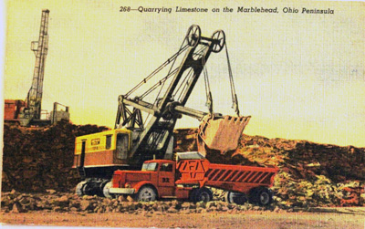 Quarrying Limestone on the Marblehead, Ohio Peninsula