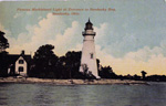 Famous Marblehead Light at Entrance to Sandusky Bay, Sandusky, Ohio