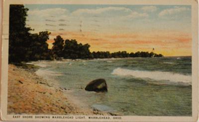 East Shore showing Marblehead Light, Marblehead, Ohio
