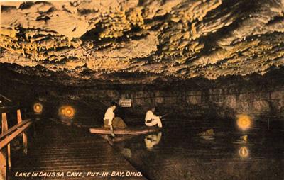 Lake in Daussa Cave, Put-in-Bay, Ohio.