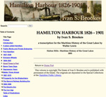 Hamilton Harbour, 1826-1901