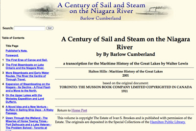 A Century of Sail and Steam on the Niagara River