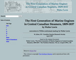 The First Generation of Marine Engines in Central Canadian Steamers, 1809-1837