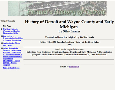 History of Detroit and Wayne County and Early Michigan
