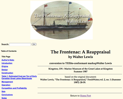 The Frontenac: A Reappraisal