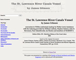 The St. Lawrence River Canals Vessel