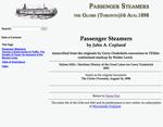 Passenger Steamers