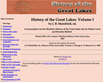 History of the Great Lakes. Volume I
