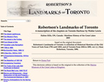 Robertson's Landmarks of Toronto