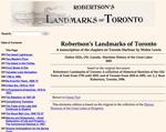 Robertson's Landmarks of Toronto