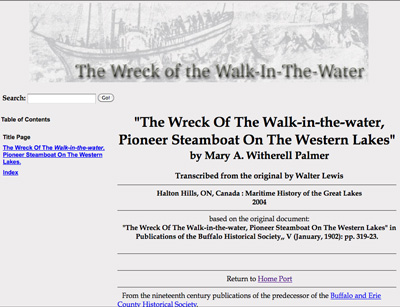 The Wreck Of The Walk-in-the-water, Pioneer Steamboat On The Western Lakes